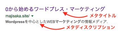 検索結果のメタタグ