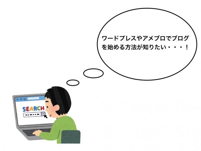 ワードプレスやアメブロでブログを始める方法が知りたい・・・!